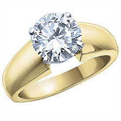 1.50 Carat Canadian Diamond, 14k Gold Solitaire Engagement Ring