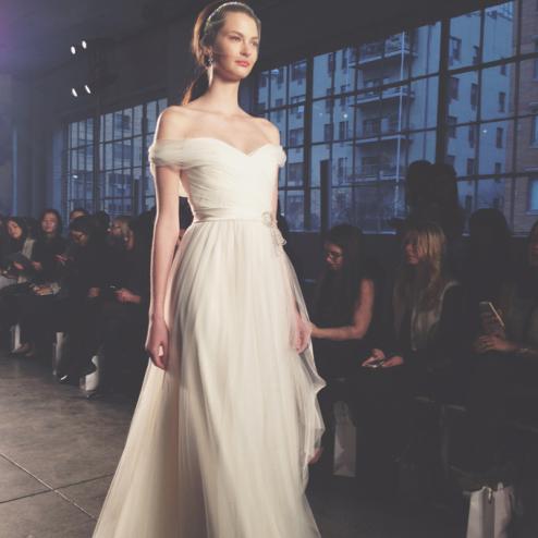 Off-the-Shoulder Necklines Wedding dresses trend 2015, latest wedding fashion
