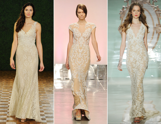Hot new wedding dress trends for fall 2014 spring 2015 for Current wedding dress trends